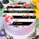 OPŁATEK na tort personalizowany Floral Party Ø20cm