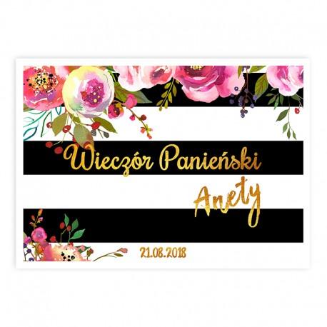 PLAKAT dekoracyjny Floral Party 50x70cm Z IMIENIEM