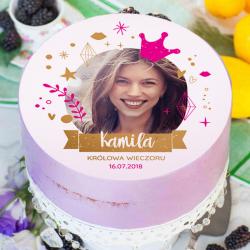 OPŁATEK na tort personalizowany Królowa Jest Tylko Jedna! Ø20cm ZE ZDJĘCIEM