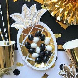TALERZYKI na słodycze, przekąski Złoty Ananas 6szt