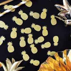KONFETTI błyszczące Złoty Ananas