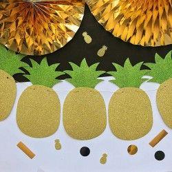 GIRLANDA dekoracyjna Ananas brokatowa 2m
