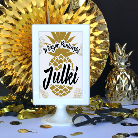 TABLICZKA Rezerwacja na stolik Złoty Ananas (+ramka)