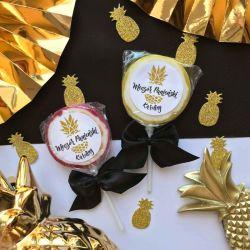 LIZAKI na panieński Złoty Ananas (+etykiety) 10szt