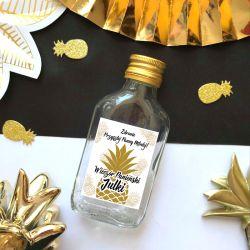 ETYKIETY personalizowane na mini wódkę Złoty Ananas 16szt
