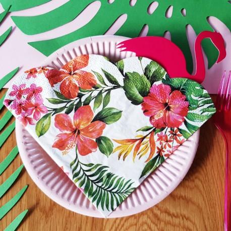 SERWETKI papierowe okrągłe Tropikalna Orchidea 12szt