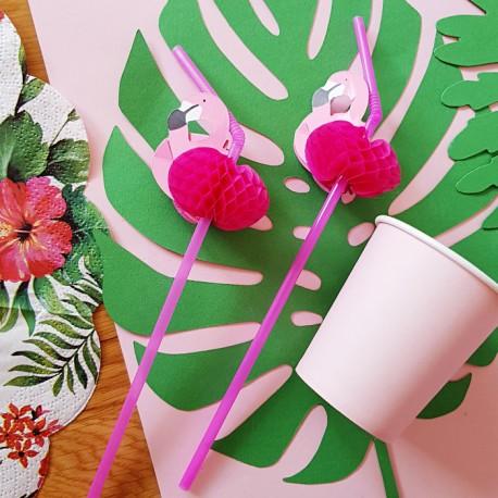 SŁOMKI różowe Flamingi Aloha 12szt HIT SEZONU!