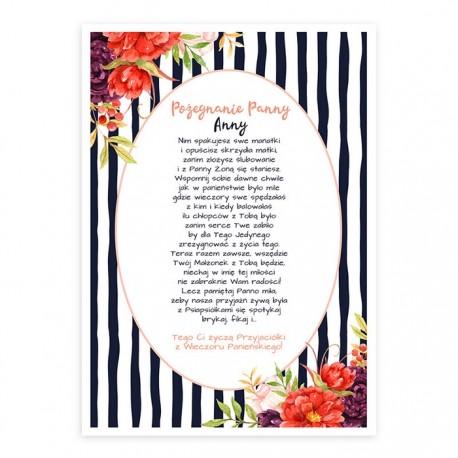 PLAKAT na wpisy dziewczyn Autumn Flowers 50x70 Z IMIENIEM