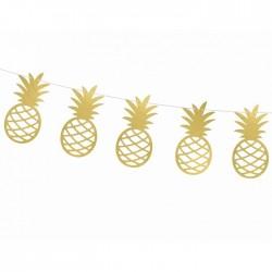 GIRLANDA dekoracyjna Złoty Ananas ażurowy 2m