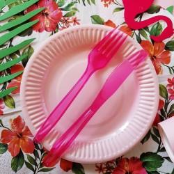 WIDELCE plastikowe 10szt CIEMNORÓŻOWE