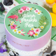 OPŁATEK na tort personalizowany Tropical Orchid Ø20cm