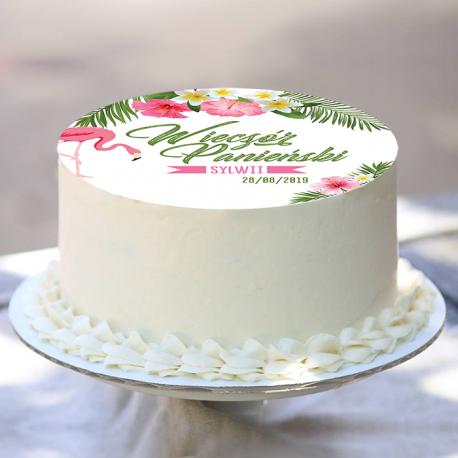 OPŁATEK na tort personalizowany Flaming Ø20cm