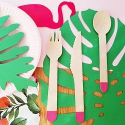 SZTUĆCE drewniane Kolekcja Flaming 18szt