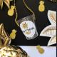 KIELISZEK na łańcuszku Złoty Ananas NA IMIONA