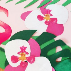 KWIATY dekoracyjne papierowe Orchidee 6szt