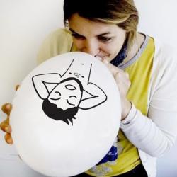 Balony białe Zrelaksowany Kawaler 10szt