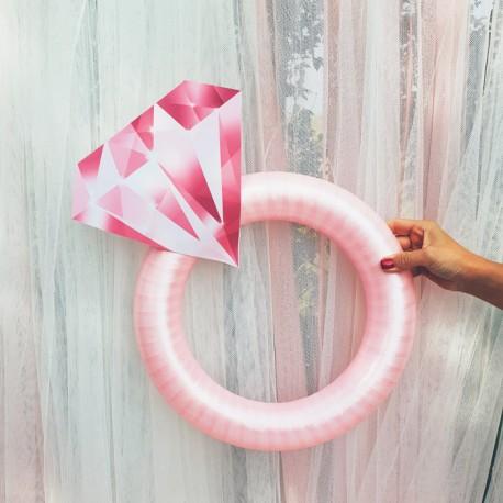 PIERŚCIONEK dekoracyjny do fotek Pink Diamond