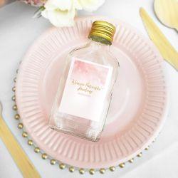 ETYKIETY personalizowane na mini wódkę Różowa Akwarela 16szt