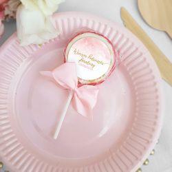 LIZAKI na panieński Różowa Akwarela (+etykiety+kokardki) 10szt