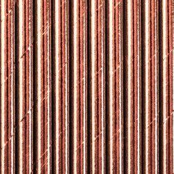 SŁOMKI papierowe metalizowane ROSEGOLD 10szt