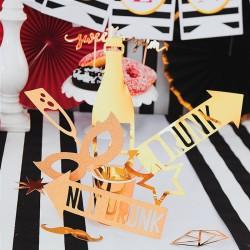 REKWIZYTY do sesji foto Imprezowe Złote 8szt