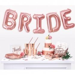 BALONY foliowe napis Bride ROSEGOLD 35 cm