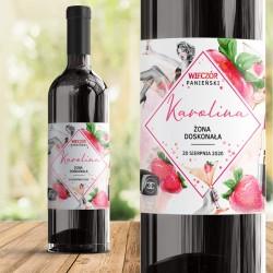 ETYKIETA na Wino personalizowana Truskawki Żona Doskonała