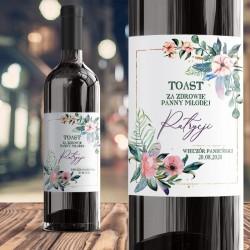 ETYKIETA na Wino personalizowana Eukaliptus