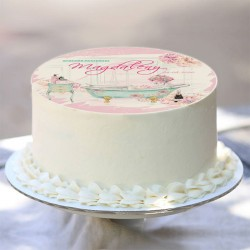 OPŁATEK na tort personalizowany Panna Młoda Ø20cm