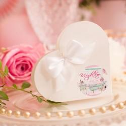 PUDEŁECZKA serca dla dziewczyn Panna Młoda 10szt (+kokardki +etykiety)