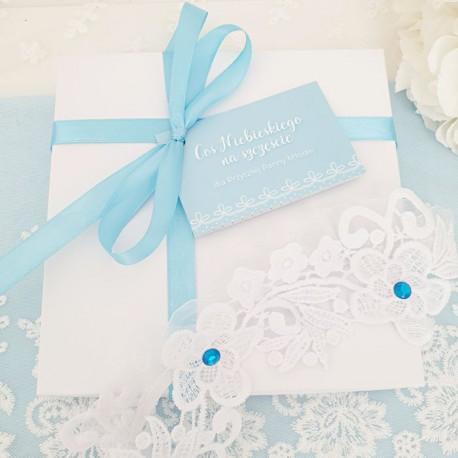 PODWIĄZKA niebieska prezent dla Panny Młodej