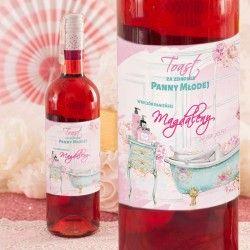 ETYKIETA na Wino personalizowana Panna Młoda