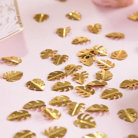 KONFETTI metalizowane Złote Liście