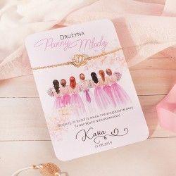 BRANSOLETKA prezent dla dziewczyn drużyna Panny Młodej PERSONALIZOWANA