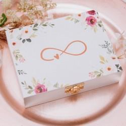 NADRUK na pudełko prezent dla bliskiej osoby Subtelne Kwiaty