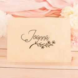 NADRUK na pudełko prezent dla bliskiej osoby Delikatna Gałązka z IMIENIEM
