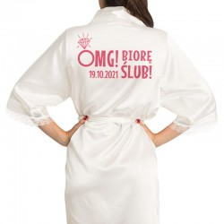SZLAFROK satynowy personalizowany OMG!