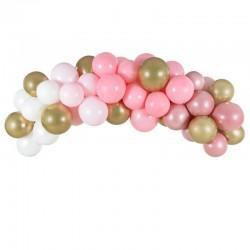 GIRLANDA balonowa Różowo-złota Dekoracja na Panieński