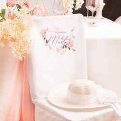 POKROWIEC na krzesło z imieniem dekoracja na Wieczór Panieński