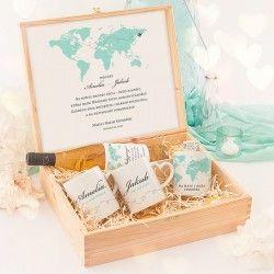 SKRZYNKA dla Pary Młodej Prezent Ślubny Podróż Poślubna