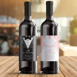 ETYKIETY na wino dla nowożeńców GRATULACJE 2szt