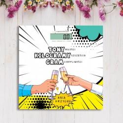 WAGA łazienkowa Prezent dla Młodej Pary Tona Miłości