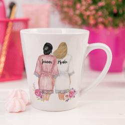 KUBEK małe latte Podziękowanie dla Świadkowej z Imionami +wybór fryzur