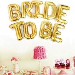BALONY Bride to Be Napis ZŁOTY