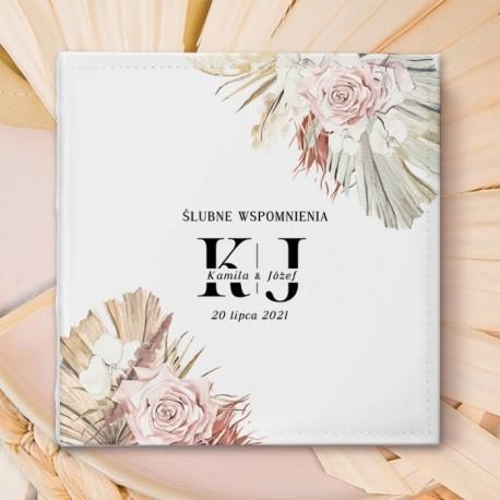 ALBUM ślubny na zdjęcia prezent dla Pary Młodej Rustic Pampas