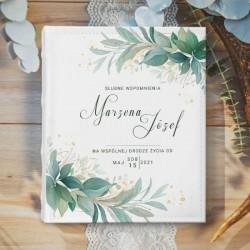 ALBUM ślubny na zdjęcia prezent dla Pary Młodej Eteryczna Zieleń