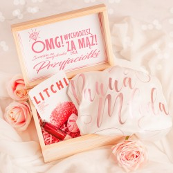 SKRZYNKA prezent dla Panny Młodej ze szlafrokiem OMG!