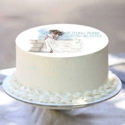 OPŁATEK na tort uniwersalny Żegnaj Panno Ø20cm