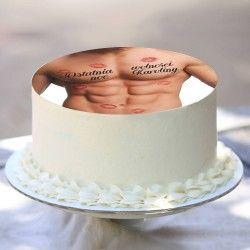 OPŁATEK na tort personalizowany Sexy Ø20cm