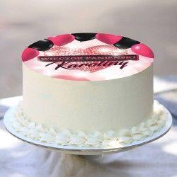OPŁATEK na tort personalizowany Sparkling Heart Ø20cm